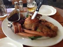 German feast at Lowenbrau Keller - Meat. Beautiful Meat.
