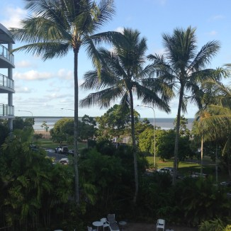 View from our room at the Holiday Inn Cairns