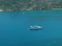 The Spirit of Freedom anchored at Lizard Island