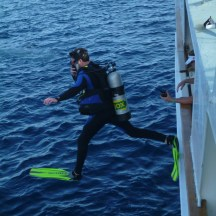 Giant stride into the Coral Sea!