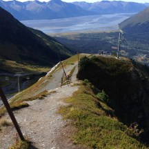 Steep Hill on Alyeska looking at Turnagain arm