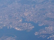 Flying over Baltimore