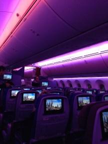 LAN Economy Cabin on the B787 Dreamliner