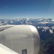 LAN B787 Engine over the Andes
