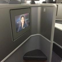 B777-200 Backward facing seat