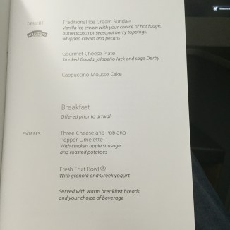 Dessert and Breakfast Menu