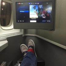 "B777-200 ""new configuration"" forward facing seat"