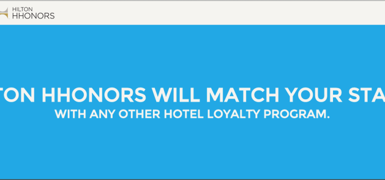 Free Hilton HHonors Diamond Status Match
