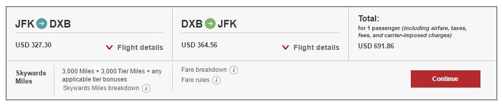 emirates flight deals