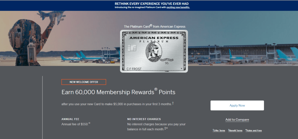 American Express Platinum Card 60K Sign-Up Bonus