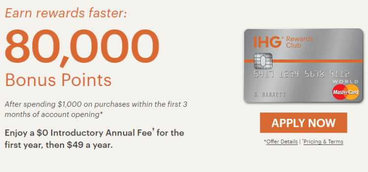 IHG Rewards Club Select Credit Card