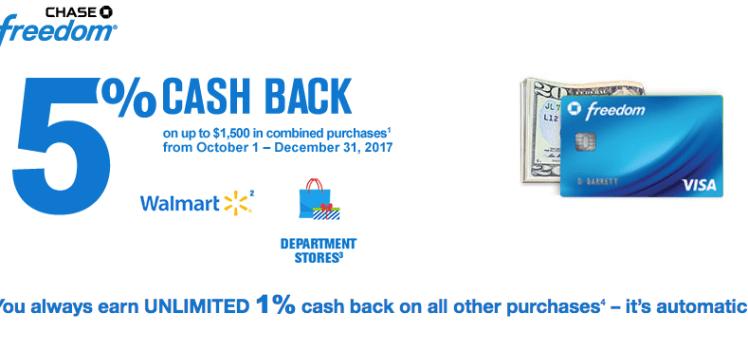 Chase Freedomfourth quarter5X Cash back
