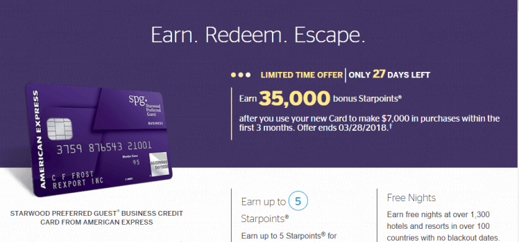 Business archives points pointers amazing deal 35000 starwood points on spg business amex reheart Gallery