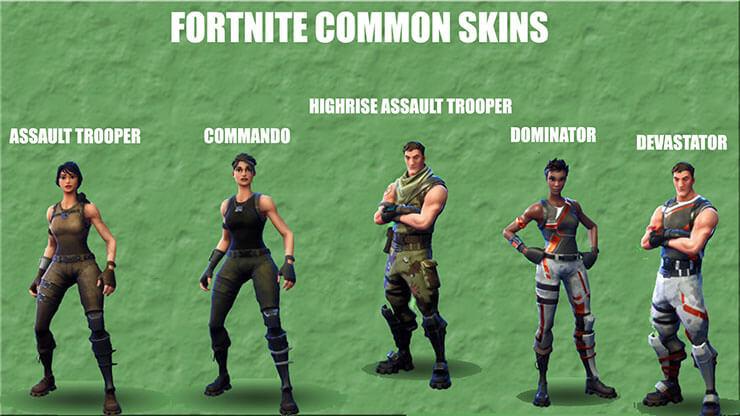 Uncommon Fortnite Skins Names