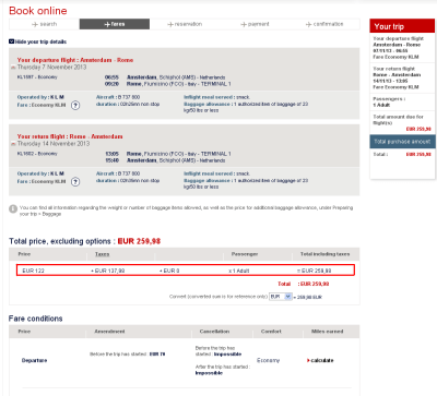 Notice the price discrepancy between the three sites?