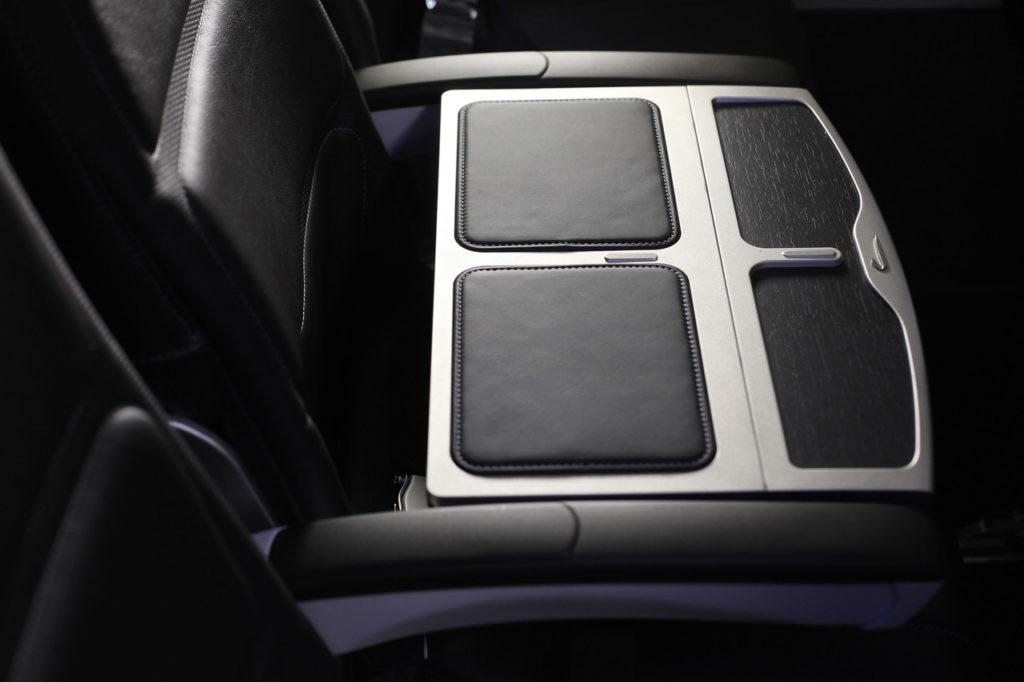 British Airways Club Europe Club middle seat dividing tray