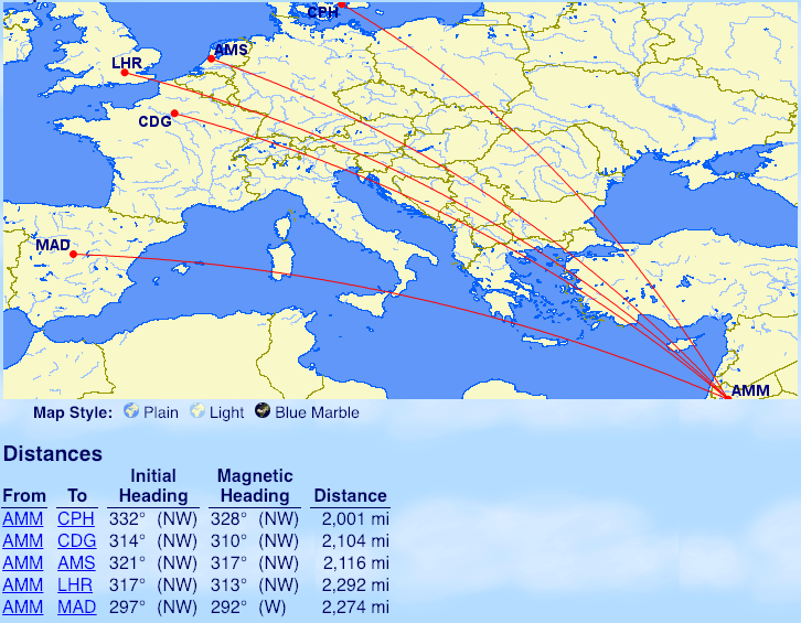 EVERY Oneworld flight marginally over 2000 miles. Your ...