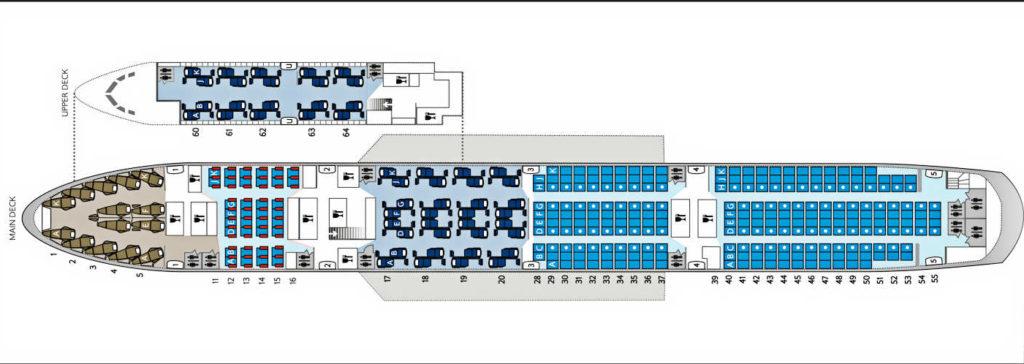 British Airways low-J seat map