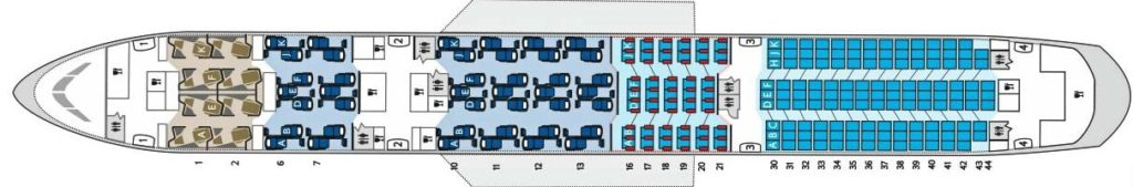 British Airways Boeing 787-900 seat map