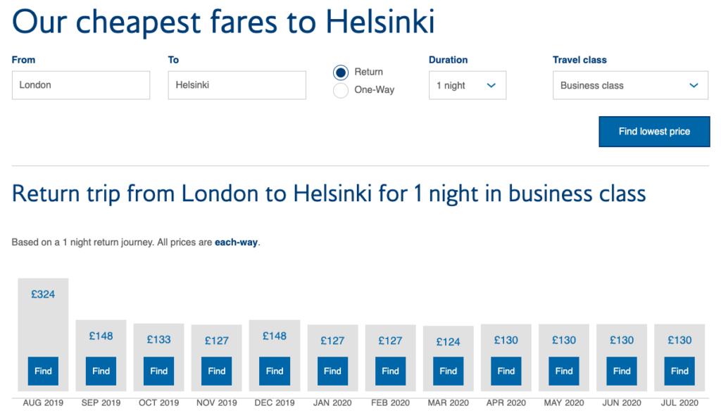 Helsinki Tier Point Run Fares 2019