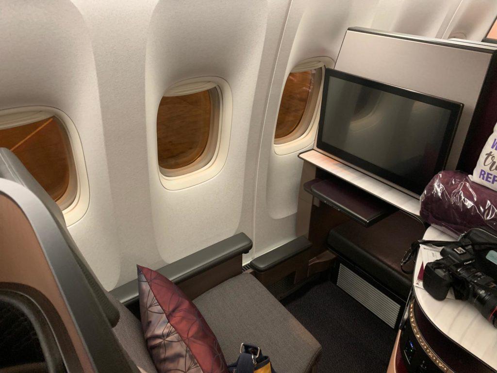 Qatar Airways QSuite window seat