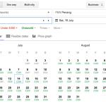 Google Flights search screenshot