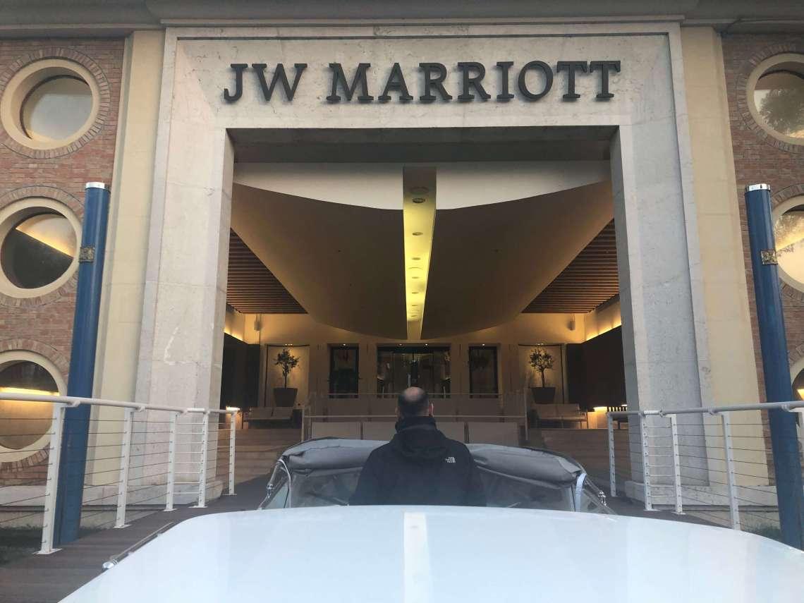 JW Marriott Venice Private Taxi Entrance