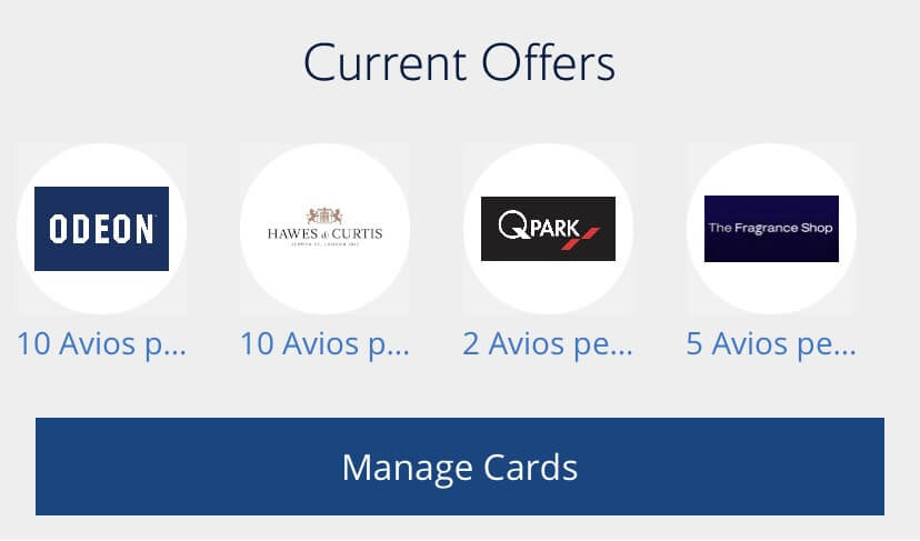 Collect Avios - Collect On Card