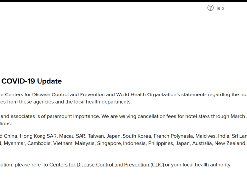 Marriott Coronavirus Cancellation Policy