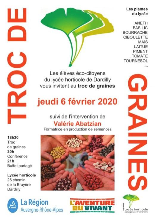 Jeudi 6 février 2020 – Troc de graines