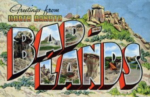 Badlands postcard front