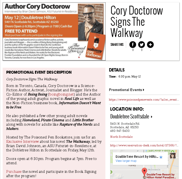 Cory Doctorow ad