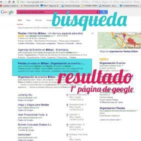 Ejemplo de posicionamiento web en Bilbao de la empresa Xquisit, hecho por Poison Estudio