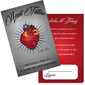 imagen Diseño Gráfico Tarjeta Heart Tattoo Poison Estudio
