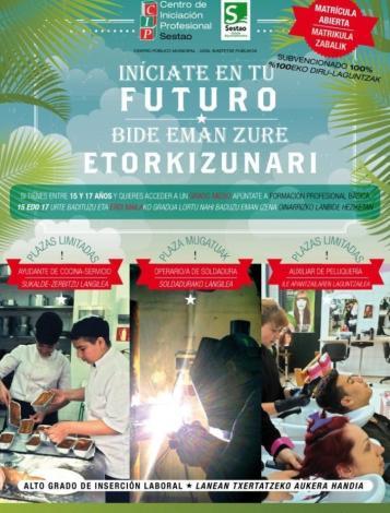 Imagen del Cartel para el Centro de Iniciación Profesional de Sestao