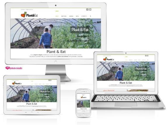Pagina web para plant and eat diseñada por Poison Estudio en bilbao