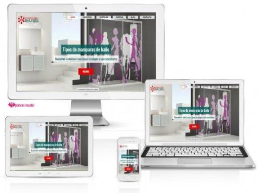 imagen de la página web de Cristaleria Bolueta desde diferentes dispositivos moviles