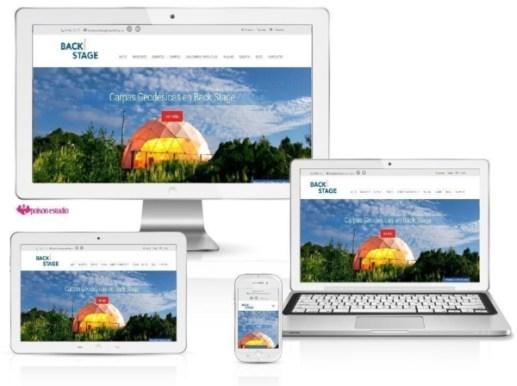 Página web para Back Stage Marketing