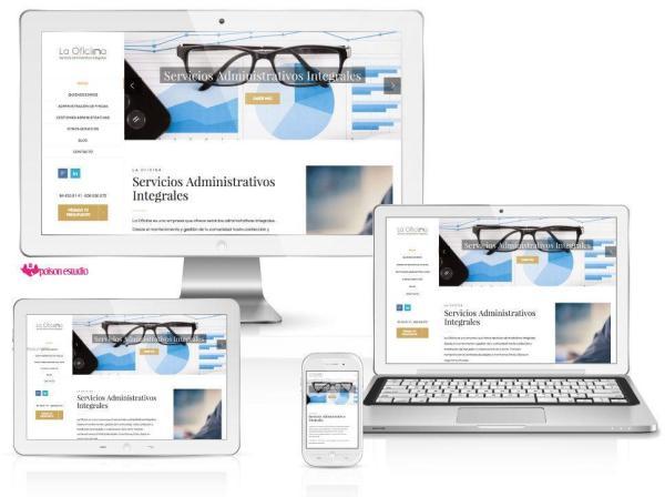 Página web responsive de la empresa La Oficina
