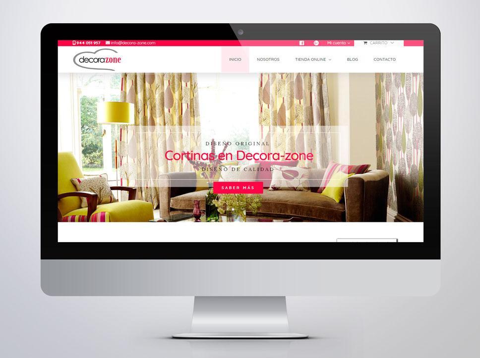 Diseño de página web para Decorazone por Poison Estudio en Bilbao