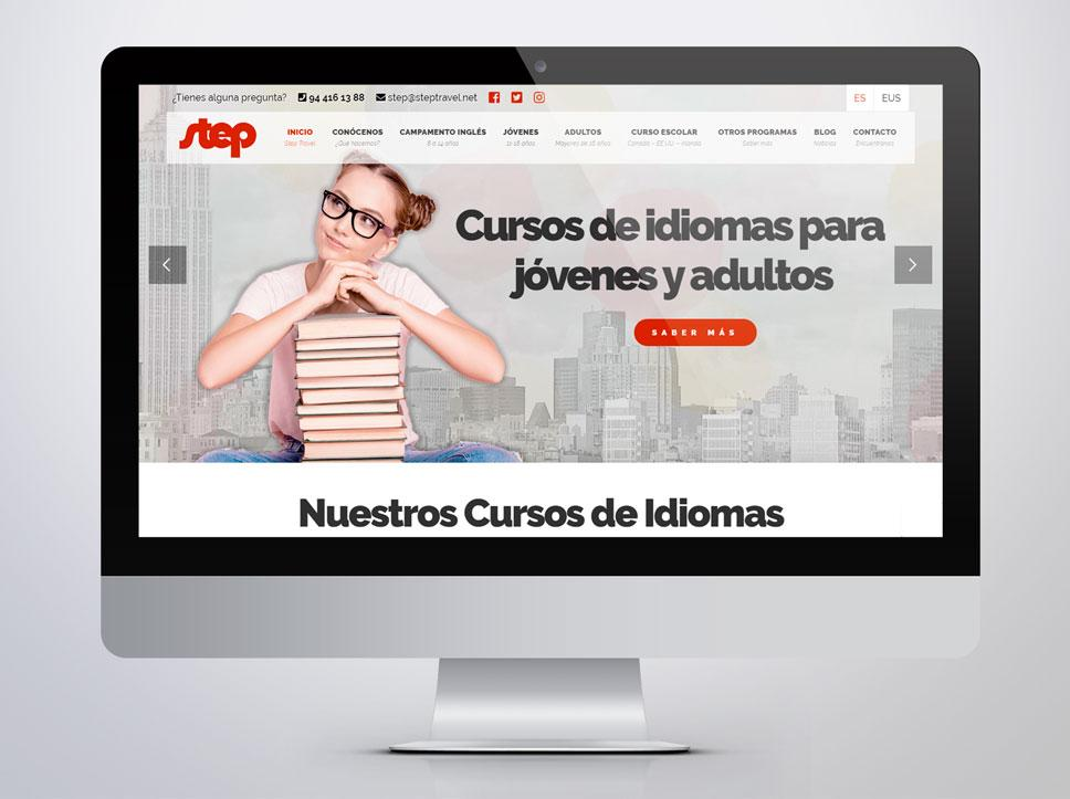 Diseño página web para Step Travel por Poison Estudio
