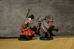 Painted Runebound heroes Master Thorn and Laurel of Bloodwood
