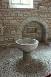 Font inside church of John the Baptist
