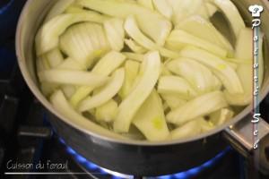 La cuisson du fenouil