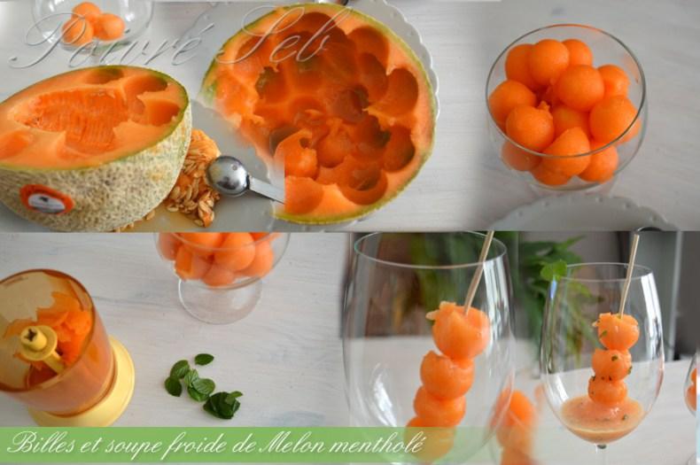 Bille et soupe_froide_melon_mentholé_Préparation