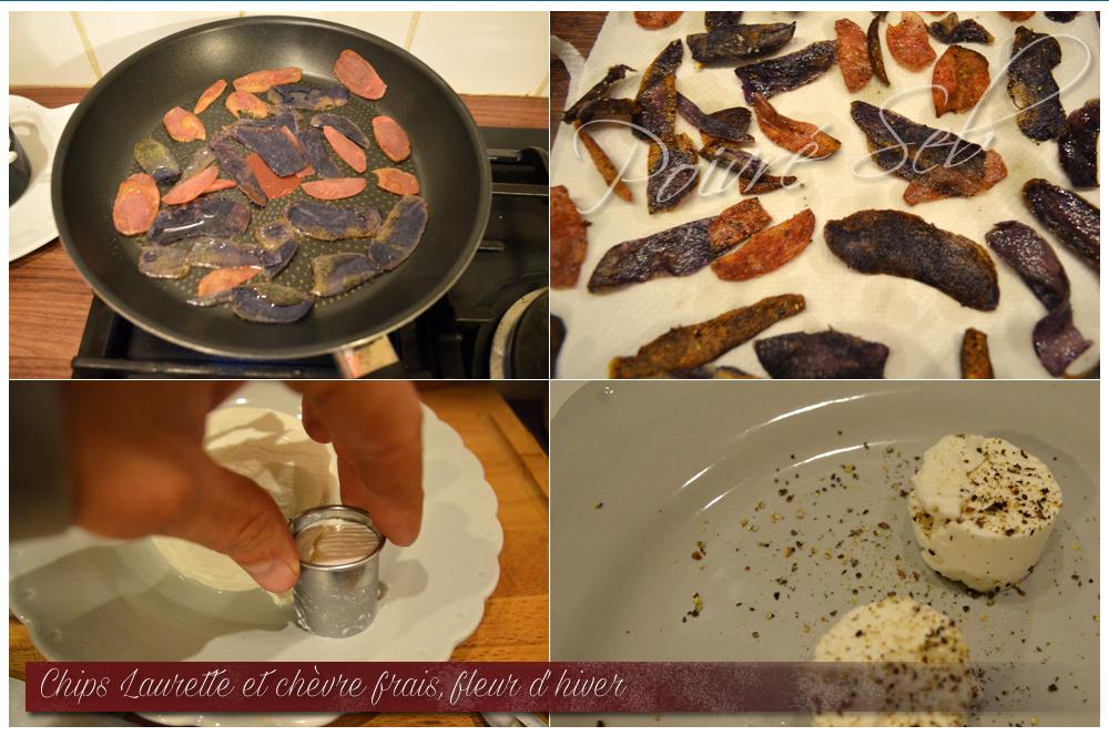 Chips Laurette chevre frais Fleur hiver Préparation 2