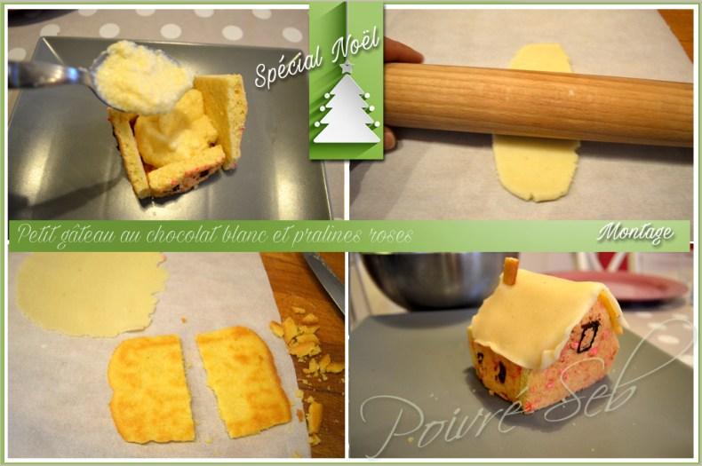Petit gâteau au chocolat blanc et pralines roses_Montage2