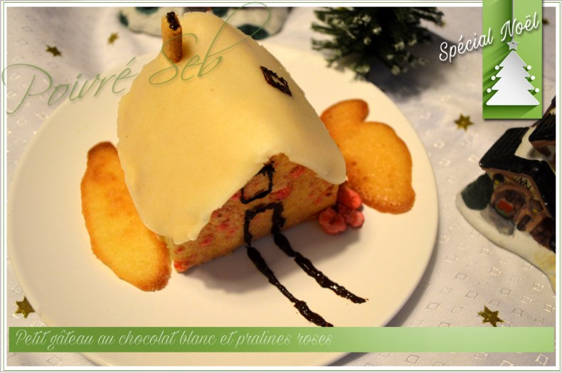 Petit gâteau de Noël en petite maison