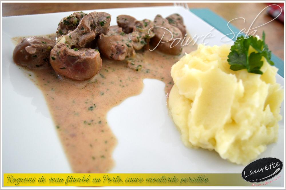 Rognons de veau flamb s au porto sauce moutarde persill e - Cuisiner rognons de veau ...