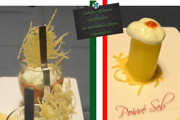 Saveur Italienne en Verrine ou cannellonis façon mignardises.
